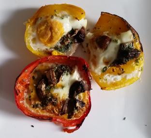 resultaat paprika met ei